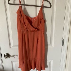 Everly rust/salmon color dress